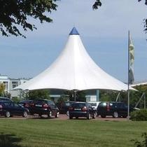 Zeltkontruktion Autohaus Melle